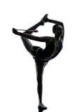 Rytmicznych gimnastyk teeenager dziewczyny sylwetka obraz stock