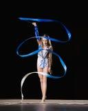 rytmisk gymnastik Fotografering för Bildbyråer