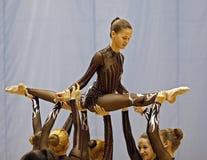 rytmisk turnering för gymnastik Fotografering för Bildbyråer
