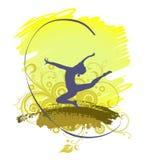 Rytmiska gymnastkonturer Arkivfoton