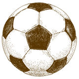 Rytownictwo ilustracja futbolowa piłka Obraz Stock