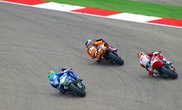 Ryttare Moto2 slåss i Austin, Texas USA Royaltyfri Foto