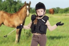 Ryttare och häst Arkivbild