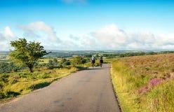 Ryttare på den Dunkery kullen Royaltyfria Bilder