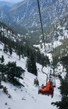Stolelevator för Mt. Baldy Arkivfoto