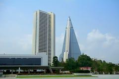 Ryugyong hotel, Pyongyang, Korea Fotografia Royalty Free