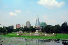 Ryugyong hotell, Pyongyang, Nordkorea Arkivfoton