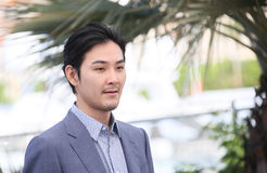 Ryuhei Matsuda attends `Before We Vanish Sanpo Suru Shinryakus. Ha` photocall during the 70th annual Cannes Film Festival at Palais des Festivals on May 21, 2017 stock images