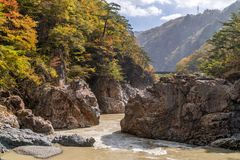 Ryuyo Gorge canyon Nikko Japan Royalty Free Stock Photography
