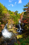 Ryuzu waterfall in Autumn, in Nikko, Japan Stock Images