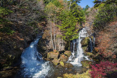 Ryuzu waterfall. Means the head of the dragon; it is 210 meters high. One of the 3 finest waterfalls in Nikko Stock Photo