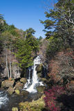 Ryuzu waterfall. Means the head of the dragon; it is 210 meters high. One of the 3 finest waterfalls in Nikko Stock Photos