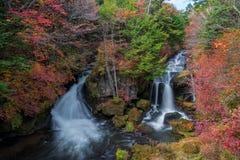 Ryuzu waterfalls with autumn colors season. Ryuzu waterfalls with autumn colors season, Nikko, Japan Stock Photos