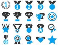 Rywalizaci i sukcesu Bicolor ikony Zdjęcia Royalty Free