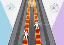 Rywalizacja na drodze Biznesowy finansowy symbolu illustrat ilustracja wektor