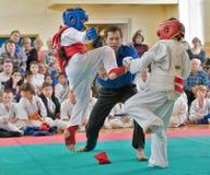 Rywalizacja na kyokushinkai karate Obrazy Royalty Free