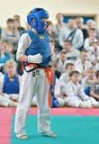 Rywalizacja na kyokushinkai karate Zdjęcia Royalty Free