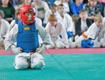 Rywalizacja na kyokushinkai karate Obraz Stock