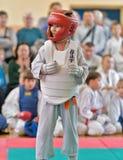 Rywalizacja na kyokushinkai karate Zdjęcie Stock
