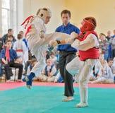 Rywalizacja na kyokushinkai karate Zdjęcia Stock