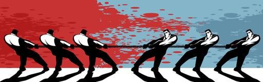 Rywalizacja w biznesie ilustracja wektor