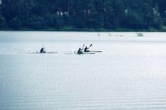 rywalizacje na wioślarstwie na otwartej wodzie Zdjęcie Royalty Free