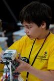 Rywalizacje roboty wśród szkolnych uczni Fotografia Stock