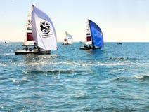 Rywalizacje w Sochi na Czarnym morzu wodnymi sportami Obrazy Royalty Free