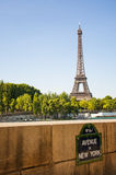 Rywalizuje aleję de Nowy Jork w Paryskim mieście Zdjęcie Royalty Free
