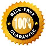 Ryzyka bezpłatna gwaranci etykietka Fotografia Royalty Free