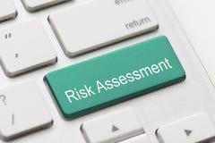 Ryzyko ocenia ocena projekta rynku klawiaturowego guzika Fotografia Royalty Free