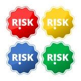 Ryzyko! , okrzyka ryzyka znaka ikony guzik royalty ilustracja