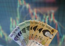 Ryzyko rynek papierów wartościowych Obrazy Royalty Free