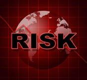 Ryzyko wykresu przedstawienia Infochart one Wystrzegają się I Ryzykowny royalty ilustracja