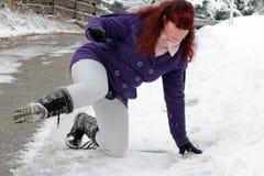 Ryzyko wypadki w zimie obraz stock
