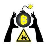 Ryzykowny biznes z Bitcoin ilustracji