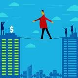 Ryzykowny sposób dokonywać pieniądze ilustracja wektor