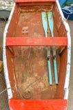 Rząd łódź w Canido fotografia stock