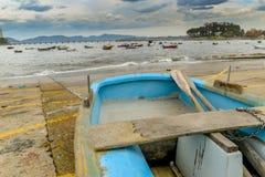 Rząd łódź w Canido zdjęcia stock