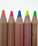 Rząd Barwioni Ołówki Obrazy Royalty Free