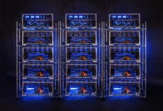 Rząd bitcoin górnicy obraz royalty free