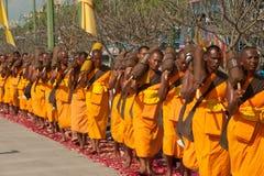 Rząd Buddyjscy podwyżka michaelita na ulicie. Fotografia Royalty Free