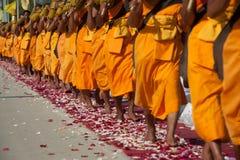 Rząd Buddyjscy podwyżka michaelita na ulicie. Obraz Stock