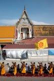 Rząd Buddyjscy podwyżka michaelita na ulicie. Fotografia Stock