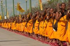 Rząd Buddyjscy podwyżka michaelita na ulicie. Zdjęcia Royalty Free