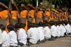 Rząd Buddyjscy podwyżka michaelita na ulicie. Zdjęcie Royalty Free