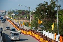 Rząd Buddyjscy podwyżka michaelita na ulicie. Obrazy Stock