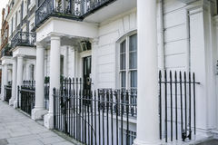 Rząd Edwardian domy w Londyn obraz royalty free