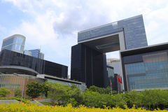 Rząd hksar nowy kwater głównych budować Zdjęcie Stock