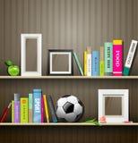 Rząd kolorowe książki na półce royalty ilustracja